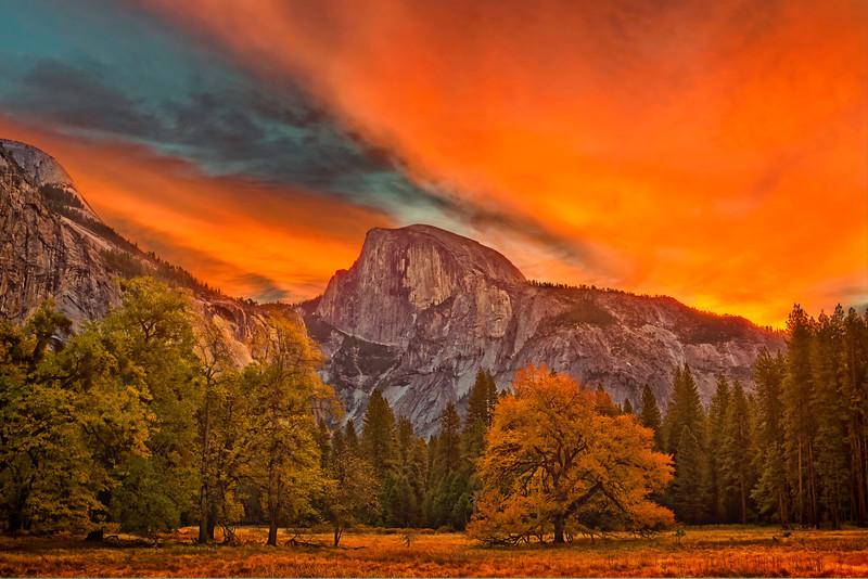 Yosemite Valley At Dawn