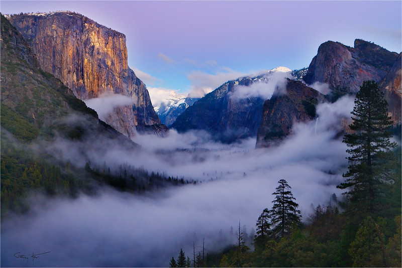 Twilight Mist, Tunnel View, Yosemite