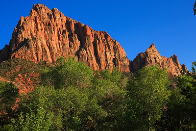 Watchman at the entrance of Zion Natl Park.