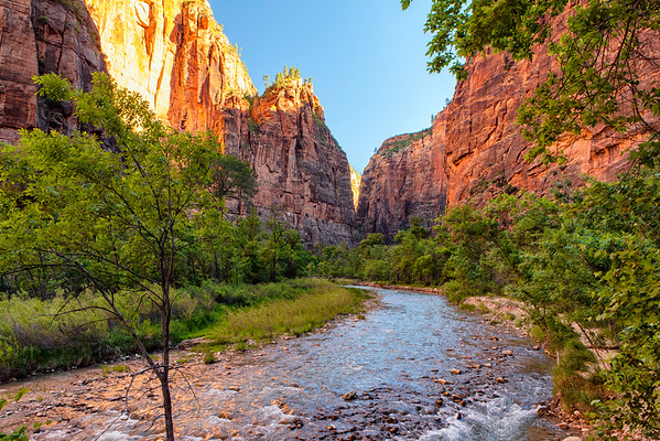 Morning along the Virgin River