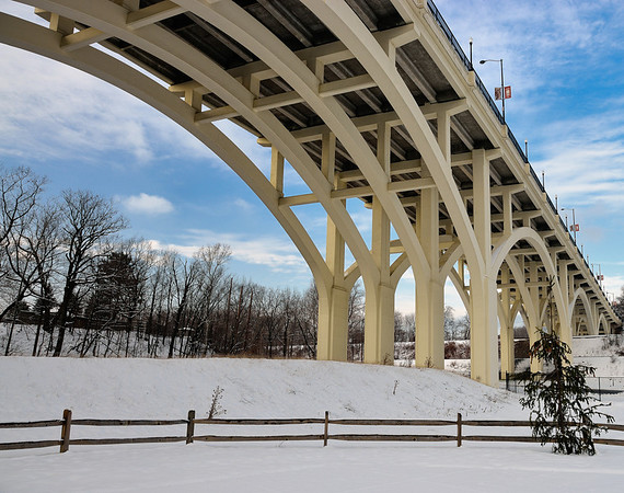 Bridge over the Zoo - Cleveland Metroparks Zoo in the Winter