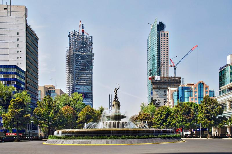 La Diana Cazadora or Diana the Huntress fountain on Paseo de la Reforma