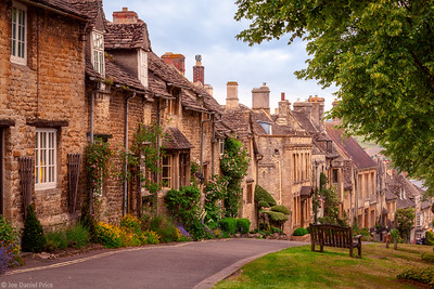 High Street at Burford, Oxfordshire, England