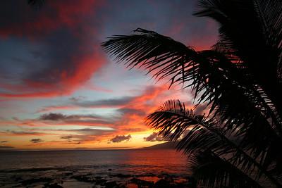 Hawaiian sunset with no enhancement