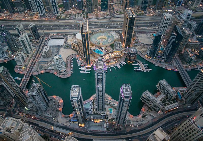 Over The Marina Area Of Dubai