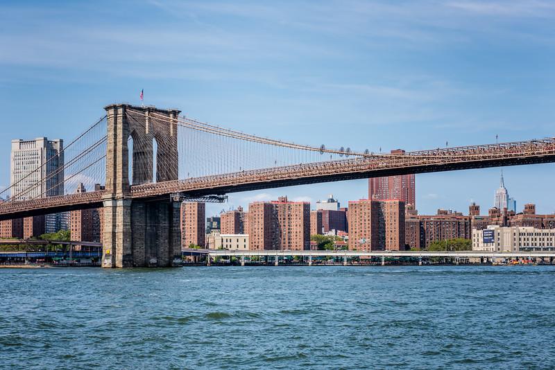 Brooklyn Bridge & the Empire State Building
