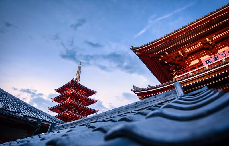 The Meiji Jingu Shrine and its Pagodas