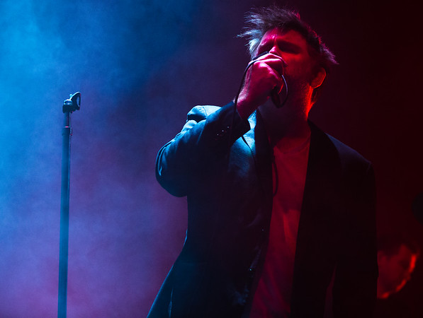 James Murphey of LCD Soundsystem plays in Nashville on Friday, October 20, 2017