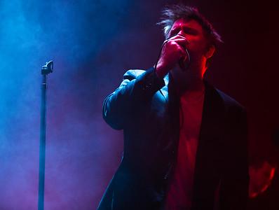 James Murphey of LCD Soundsystem plays in Nashville on Friday, October 20, 2017