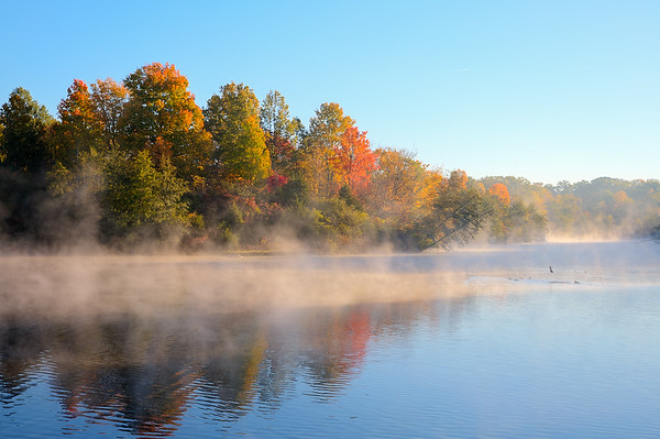 Mist over the water
