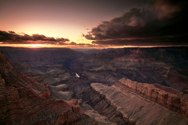 Last light over the Grand Canyon
