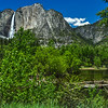 Yosemite Falls into Its Valley