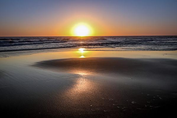 Atlantic summer sunset