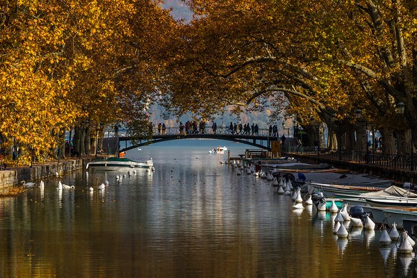 Annecy canal at fall