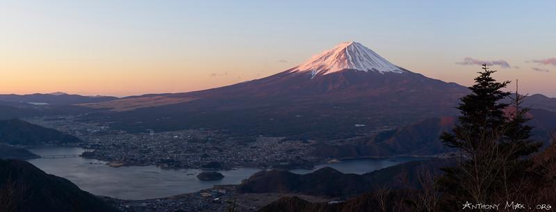Mount Fuji Towering Over Lake Kawaguchi