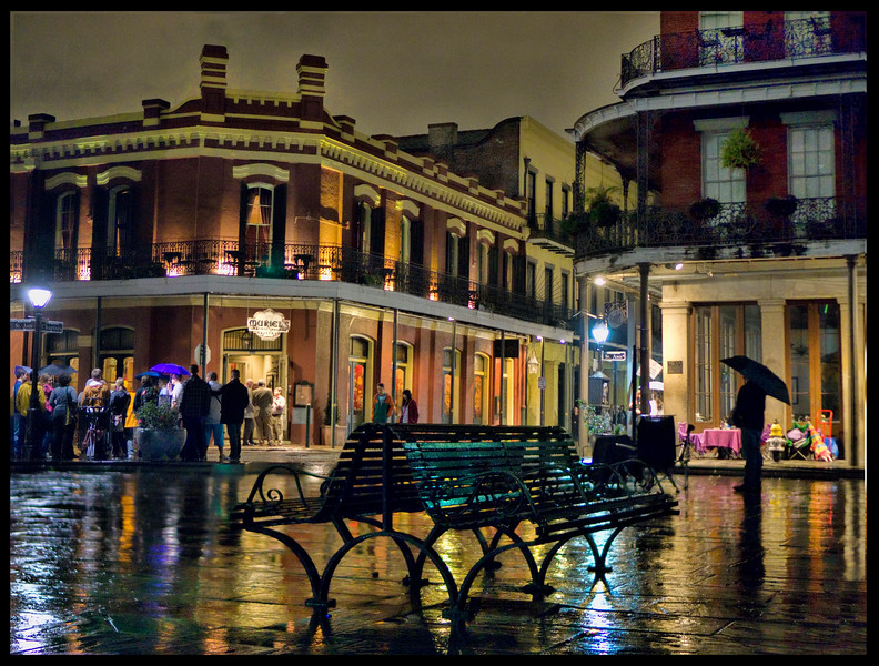 Jackson Square in the Rain, New Orleans