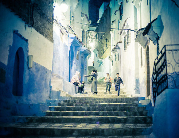 In The Blue Streets At Night