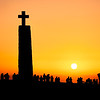Silhouette Sunset at Cabo da Roca, Sintra, Portugal, The Most Westerly Point of Mainland Europe