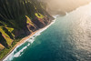 Na Pali Coast, Kauai aerial image