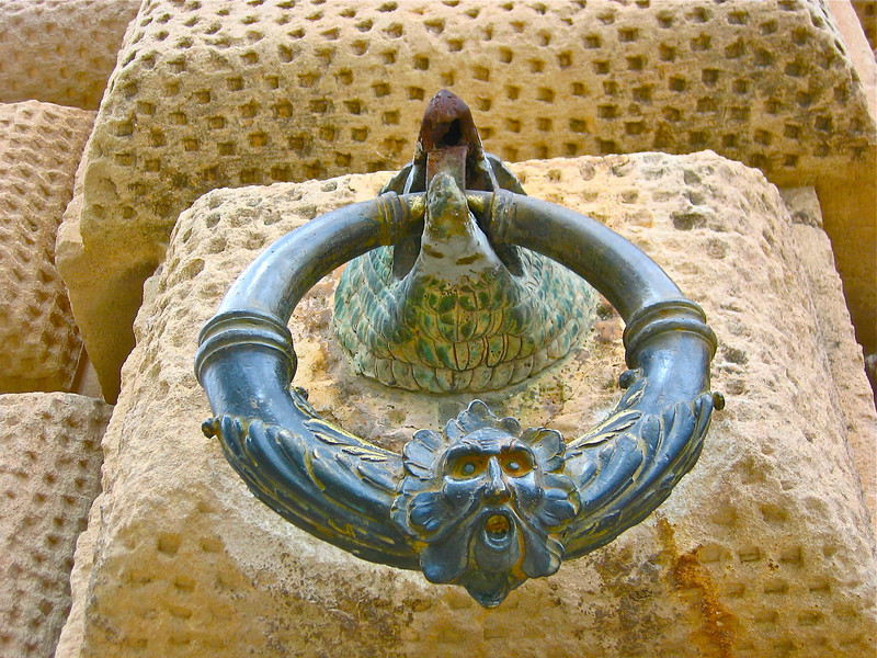 La Alhambra in Granada, Spain -  doorhandle/knocker.