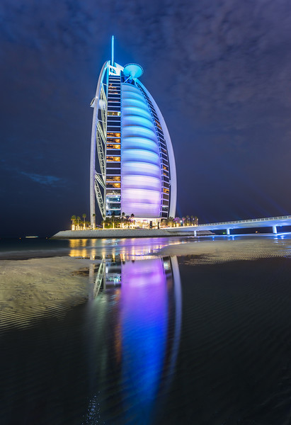 The Burj Al Arab At Night