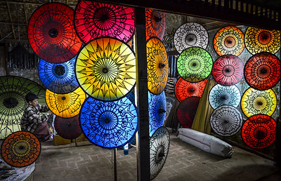 Vibrant Umbrellas || Burma (Myanmar)