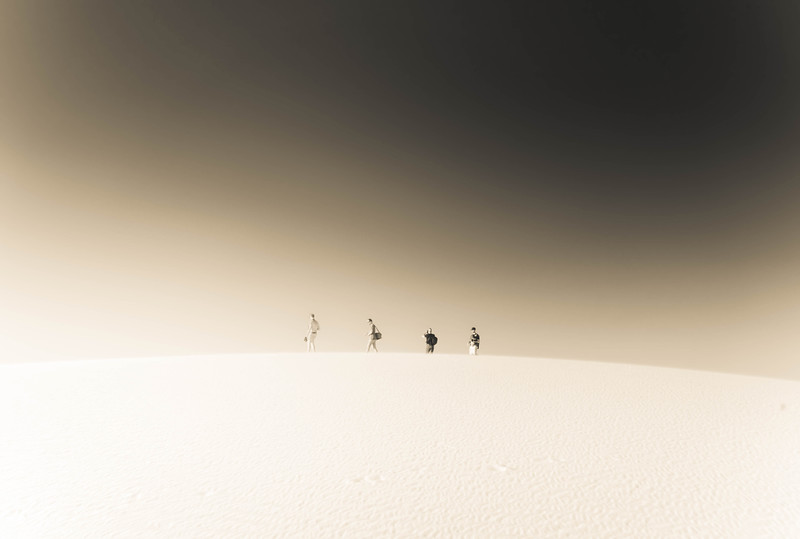 Walking In The White Sands