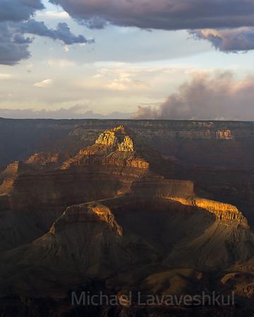 Sunset at Yaki Point, Grand Canyon