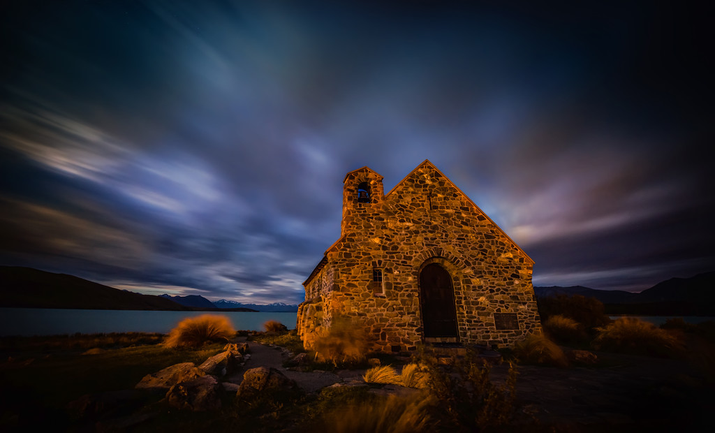 Moody Skies Over the Dark Church I keep going back to Tekapo to see the skies over the lake. If it is clear, you can see amazing stars! But, if cloudy, it's not so bad because you can get this kind of moody, long-exposure stuff… !- Trey RatcliffClick here to read the rest of this post at the Stuck in Customs blog.
