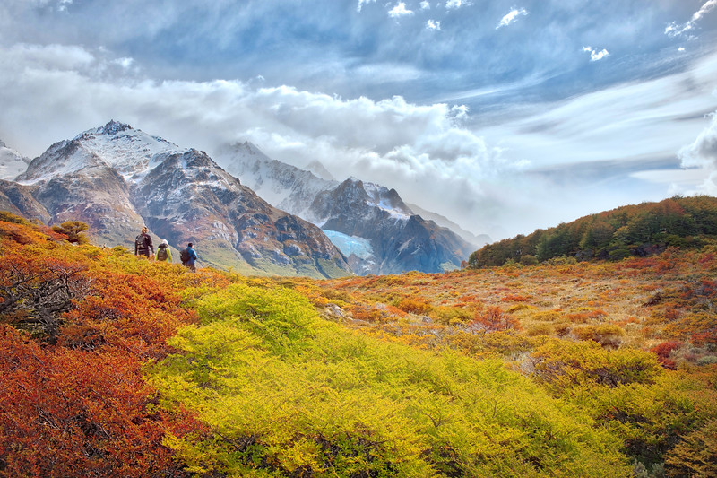 Autumn Hiking In Patagonia