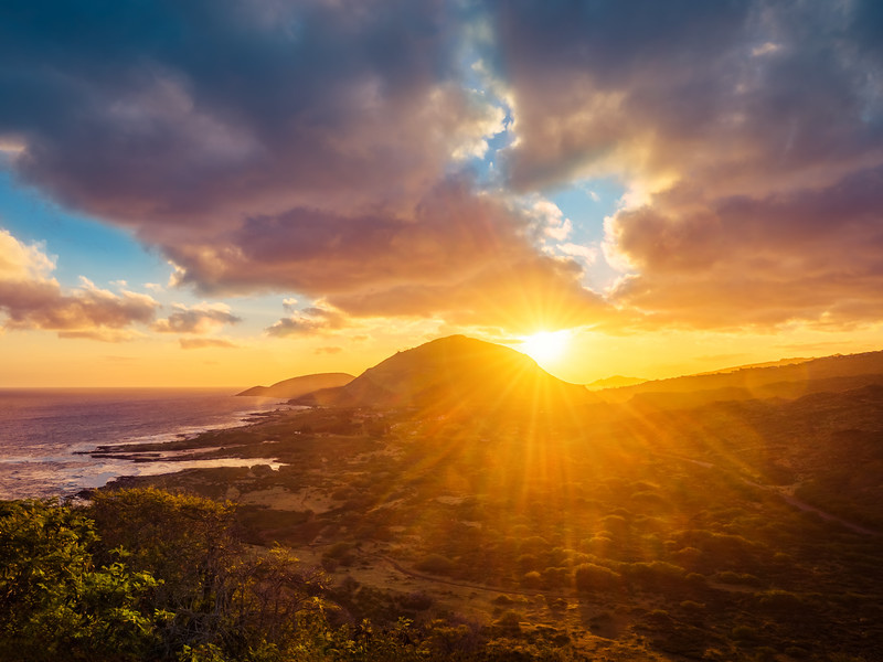Sunset Over South Shore of O'ahu (Hawaii)