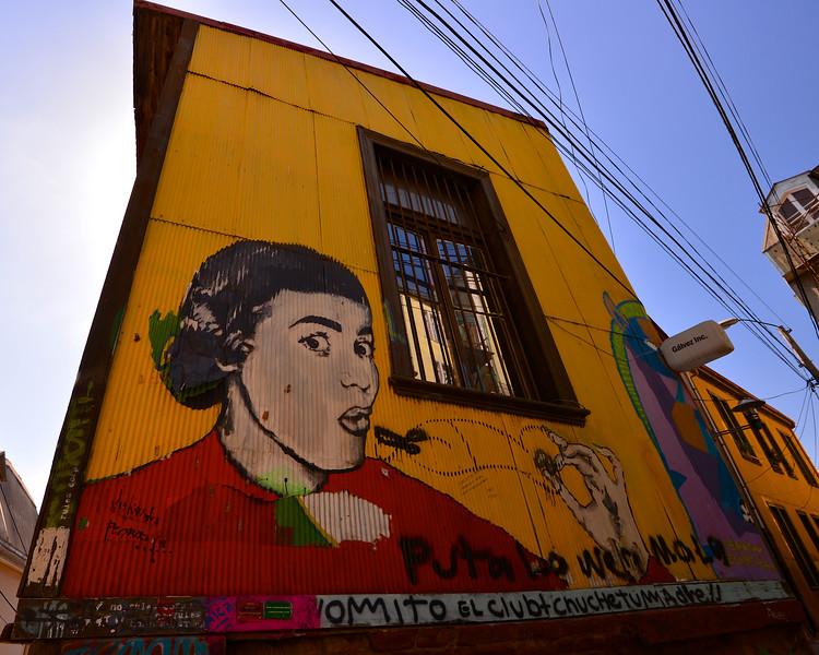 Valparaiso Street Art - Valparaiso Chile South America