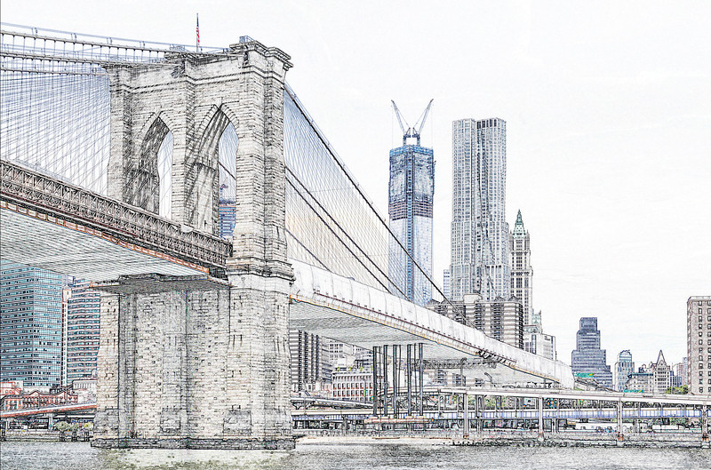 Brooklyn Bridge Sketch