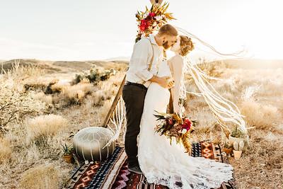 Arizona Desert Boho Elopement