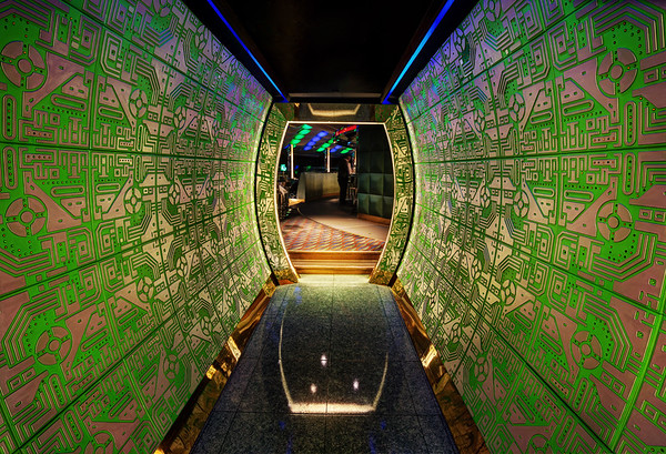 Entering The Bar Atop The Burj Al Arab