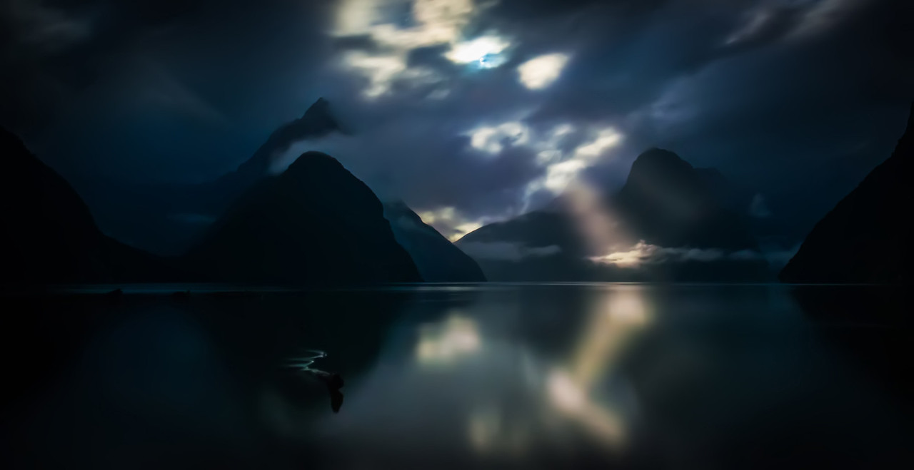 Poems in the Moonlight in Milford Sound