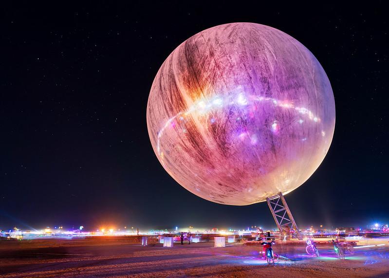The Mirror Ball at Night