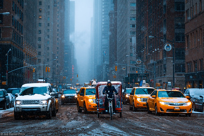 Snowy Day, New York City, New York, America