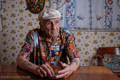 "WWII Veteran ""Wild"" Bill Guarnere, from War Paint: Tattoo Culture & the Armed Forces"