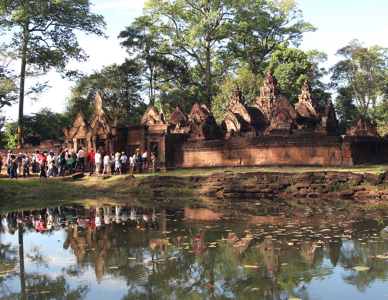 Siem Reap, Cambodia. Banteay Srei entrance