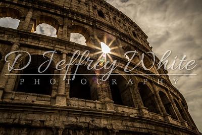 Sun Through The Colosseum