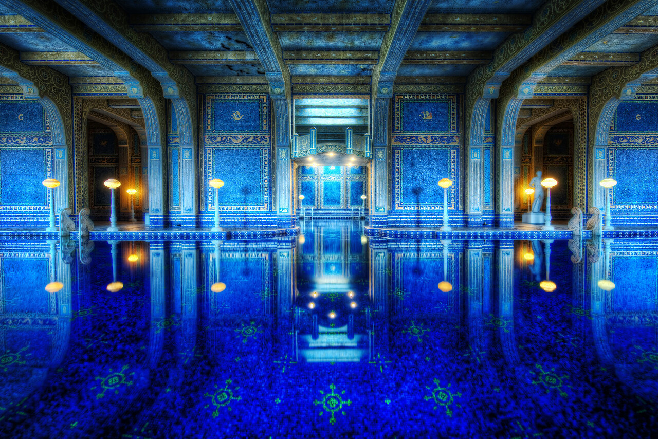 The Private Pool at Hearst This is the second photo of this pool I have published. It's from the other side — the wider side. How cool would it be to have a little party in here. Let's set that up!- Trey RatcliffClick here to read the rest of this post at the Stuck in Customs blog.