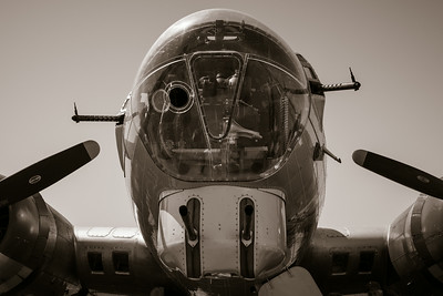 Business  end of 50 cals on B-17