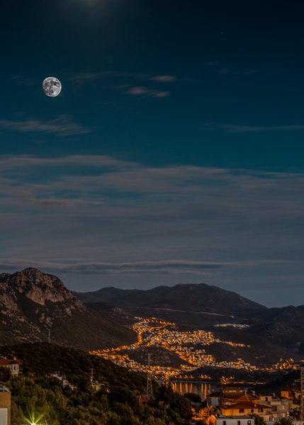 Moon rising over Kas