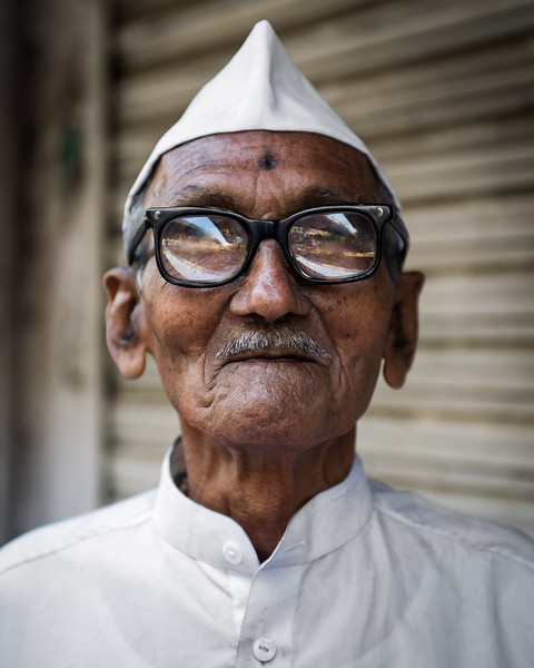 Old Man Mumbay Portrait