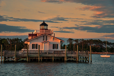 Sunset at Manteo Lighthouse, North Carolina
