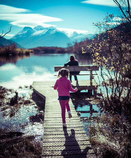 Running Out On The Lake In Glenorchy