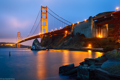Golden Gate Bridge, San Francisco, Blur Hour, California, America