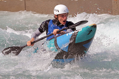 Noah Nothman competes in the USA Canoe/Kayak Slalom Olympic Trials Day 3 at U.S. National Whitewater Center -- Wednesday, April 14, 2021