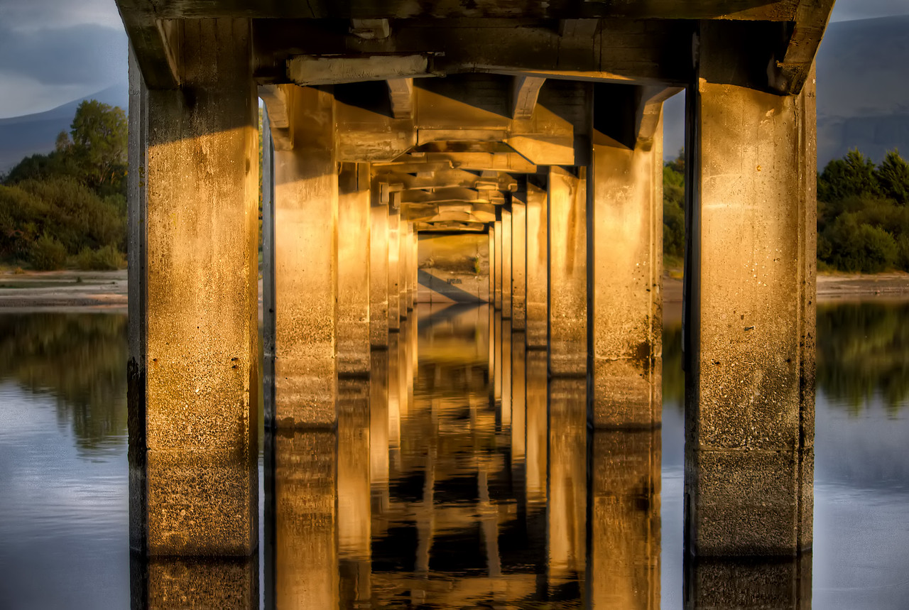 Poulaphouca Reservoir Bridge Reflection